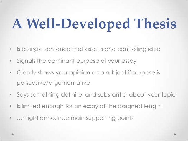 A Thesis Statement For A Research Paper